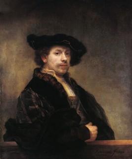 Foto van zelfportret van Rembrandt van Rijn