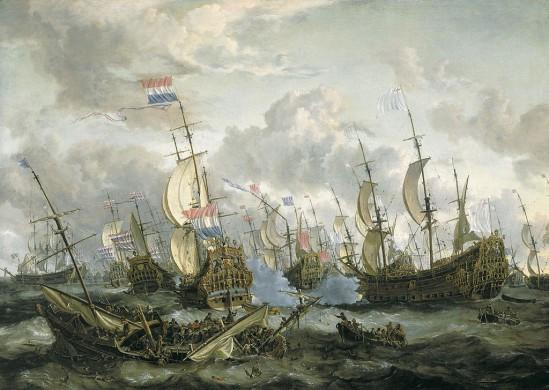 De Royal Prince en andere schepen tijdens de Vierdaagse Zeeslag (1666)