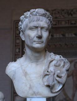 Foto van buste van Trajanus, in Glyptothek