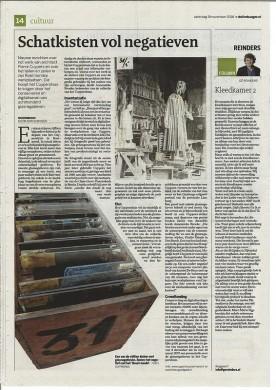 Artikel over de reddingsactie van Adri Gorissen in Dagblad De Limburger van 19 november 2016.