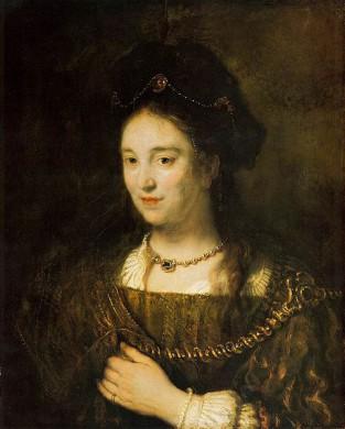Schilderij van Saskia van Uylenburgh door Rembrandt van Rijn