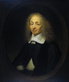 Portret van Constantijn Huygens, geschilderd door Caspar Netscher