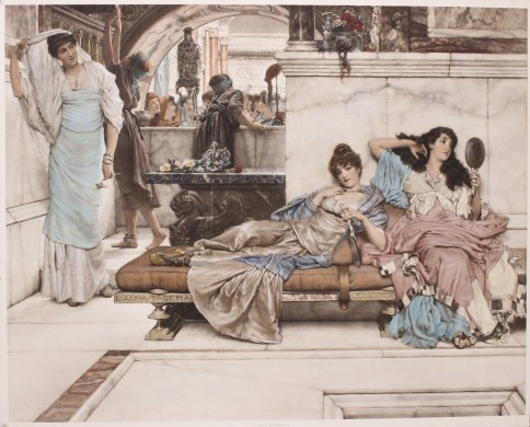 At the Shrine of Venus - antieke prent Lourens Alma-Tadema