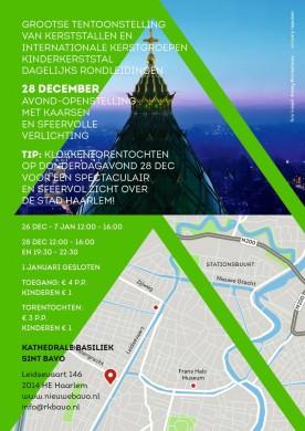 Kathedrale basiliek Sint Bavo, folder Kerstopenstelling 2017-2018 (tijden)