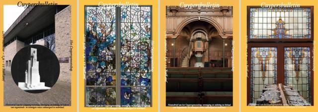 Collectie omslagen Cuypersbulletin 2016-2017. Collage bvhh.nu