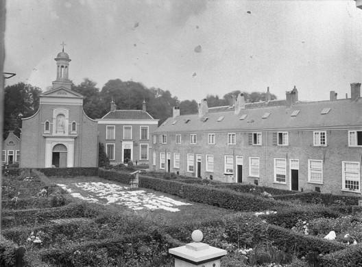 Begijnhof Breda met bleekveld, 5 september 1906