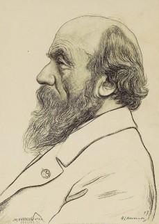 Foto van getekend portret van Pierre Cuypers