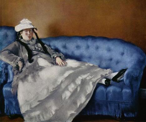 Edouard Manet, Mme Manet op de blauwe canapé
