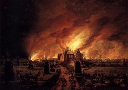 schilderij van de grote brand