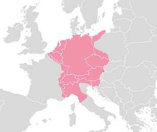 Rond 1500 besloeg het Heilig Roomse Rijk een groot deel van Europa.  De opkomst van de Reformatie droeg eraan bij dat het enorme rijk in de zestiende en zeventiende eeuw verscheurd werd door interne oorlogen.