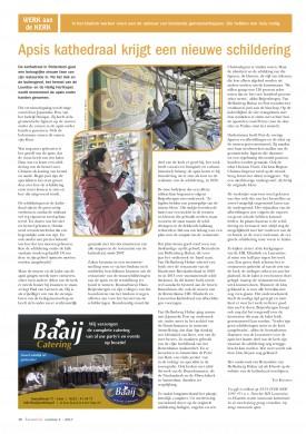 Ted. Konings, Apsis kathedraal krijgt nieuwe schildering (2017).