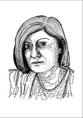 tekening Chantal Mouffe