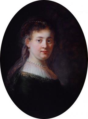 Portret van Saskia van Uylenburgh, vrouw van Rembrandt van Rijn