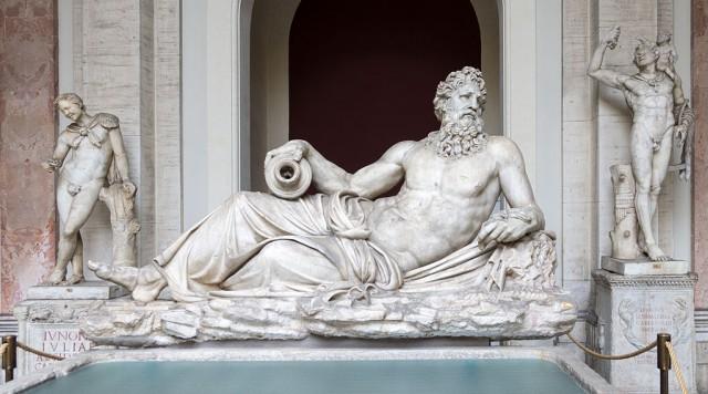 Onbekende riviergod, in de Vaticaanse Musea