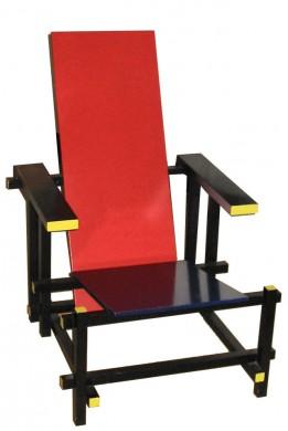 Rood blauwe stoel