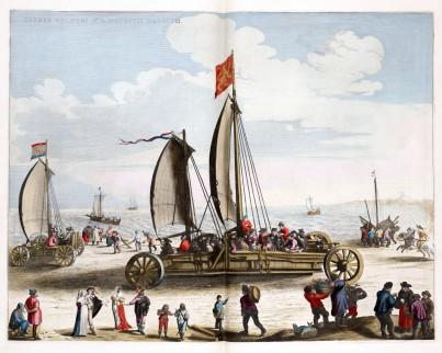 Simon Stevins zeilwagen voor prins Maurits