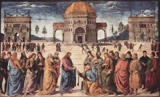Jezus geeft de sleutels aan Petrus (Fresco)