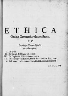 Afbeelding van Spinoza's Ethica