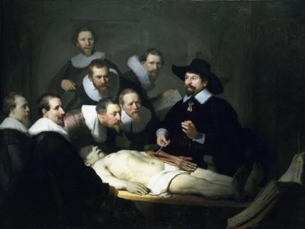 Foto van schilderij 'De anatomische les van Dr. Nicolaes Tulp' door Rembrandt