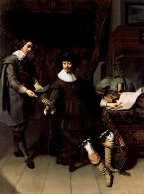 Constantijn Huygens en zijn klerk