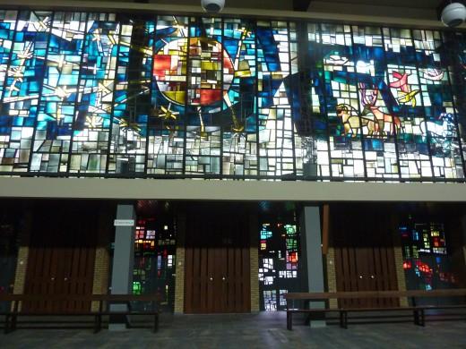 Daan Wildschut beschouwde dit als een van zijn beste glazen. Franciscus Huis Weert. Foto Marij Coenen 2016