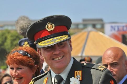 Willem-Alexander in het uniform van inspecteur-generaal