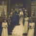 Bruiloft Mimi Vogels en Frans van Thiel (overleden 1947) in 1942. De man die boven het bruidsmeisje rechts staat is Theo Vogels. Herkomst: familie Vogels.