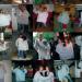 Serie foto's steeds twee mensen in een beige trui