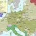 Overzichtskaart van de deportatieroutes en van de grootste vernietigingskampen, concentratiekampen en getto's