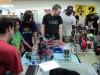 Kinderen tijdens een workshop op de Maker Meetup in Garden City, Idaho