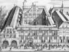 afbeelding gravure Oost-Indisch Huis Amsterdam 17de eeuw