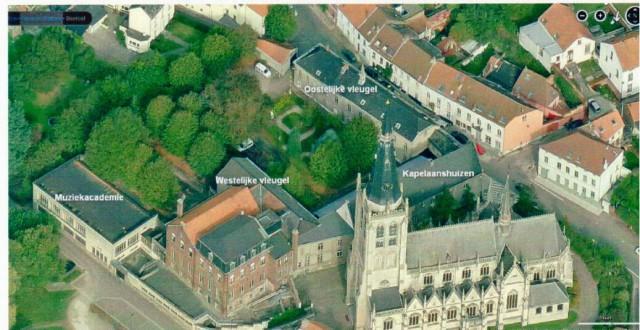 Satelietopname  van de huidige 'Grote Sleutel' via Bing