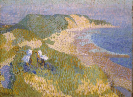 Jan Toorop, De duinen en de zee bij Zoutelande, 1907, olieverf op doek