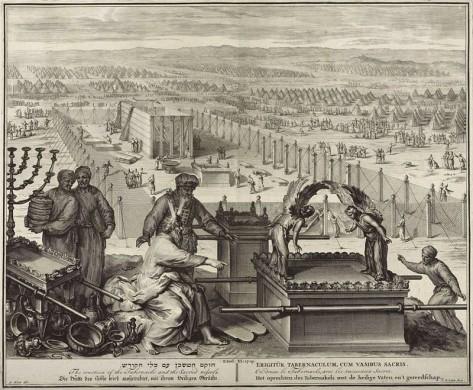Rijkscollectie Mozes tabernakel Jacob de Later naar Gerard Hoet (1696-1709)
