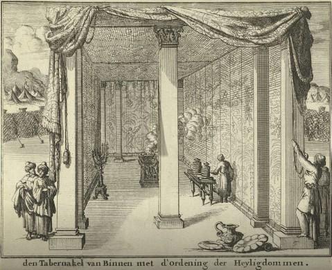 Rijkscollectie Jan Luyken interieur tabernakel (1683)