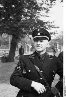 Henk Feldmeijer in het uniform van de Nederlandse SS, 1941