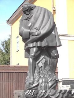 Standbeeld van Louis de Geer in Norrköping, Zweden