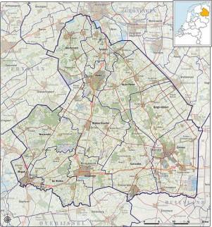 Gemeenten Drenthe anno 2012