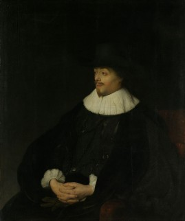 Portret van Constantijn Huygens, geschilderd door Jan Lievens