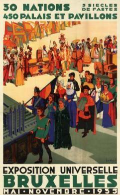 Affiche Expo 1935 © Joseph Van den Bergh (1898-1967) - Archief Stad Brussel