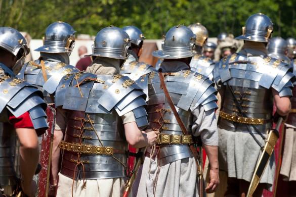 Reenactors tijdens het Romeinenfestival 2014 te Nijmegen
