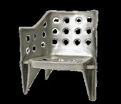Aluminium armstoel