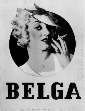 Afbeelding Belga Door René Magritte (1935)