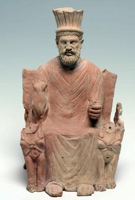 Teracotta beeld van Baal-Hammon, de oppergod van Carthago, eerste eeuw na Christus