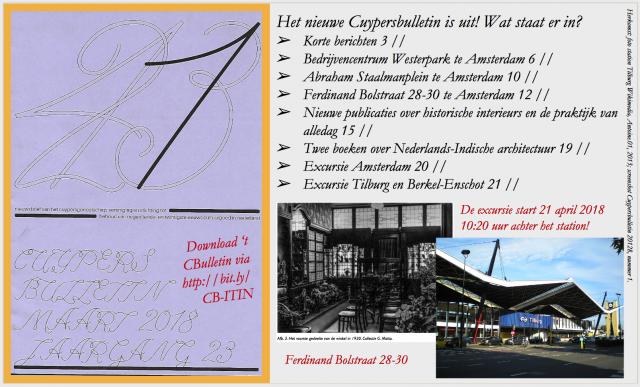 Omslag Cuypersbulletin 2018-1 met inhoudsopgave. Collage bvhh.nu 2018