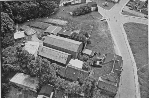 De vermoedelijke locatie van het huis van Albert II Banjaert op het terrein van Vessies.