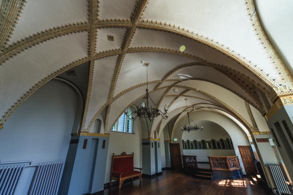 De Cuyperszaal in het Cuypershuis met haar typische gewelf dat de concave versie vormt van de koepel van de nieuwe Bavo. Foto RCE Beeldbank-Sjaan van der Jagt/Pixelpolder 2015.