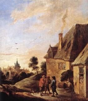 Afbeelding van schilderij Village Scene