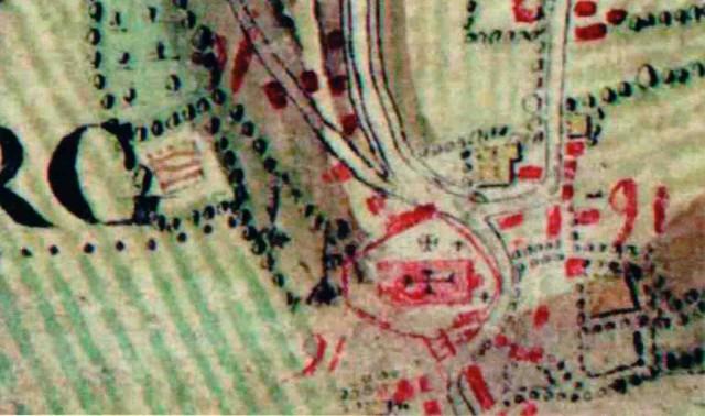 Detail uit de kabinetskaart van de Oostenrijkse Nederlanden (Ferraris)