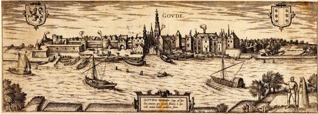 Zicht op Gouda, 1573